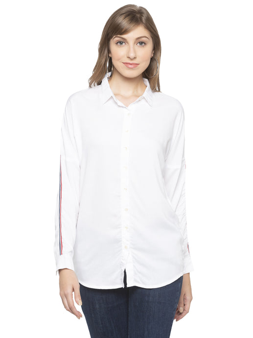 White Solid Shirt-1