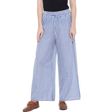 Load image into Gallery viewer, Blue Regular Fit Printed Regular Trousers-1