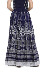 Load image into Gallery viewer, Navy Blue Printed Maxi Skirt-3