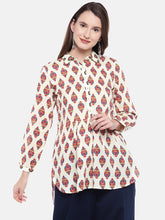 Load image into Gallery viewer, Women Beige Printed Tunic-1