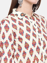 Load image into Gallery viewer, Women Beige Printed Tunic-5