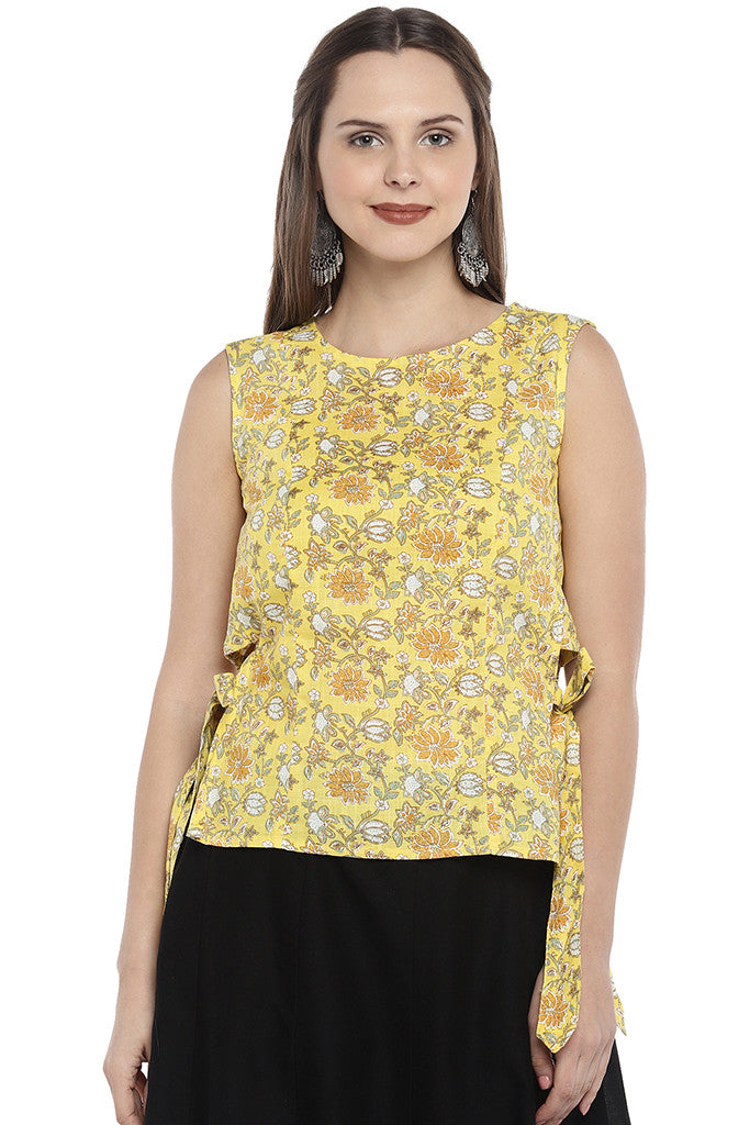 Yellow Printed Tunic-1