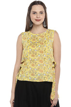Load image into Gallery viewer, Yellow Printed Tunic-1