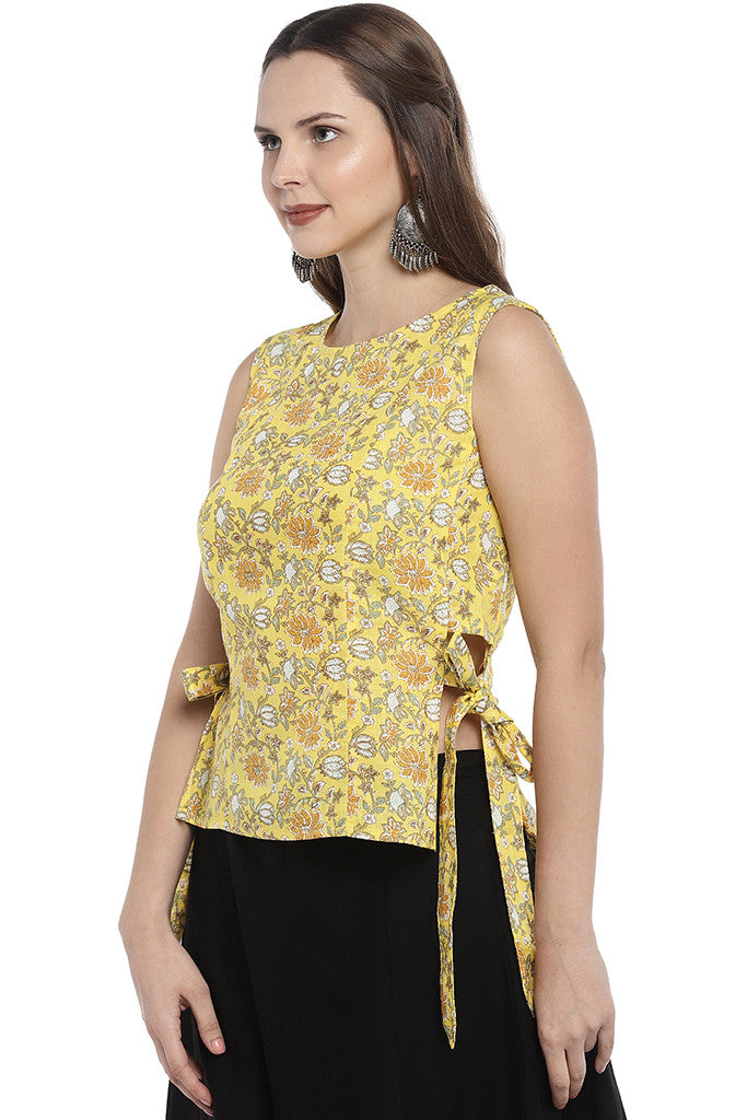 Yellow Printed Tunic-2