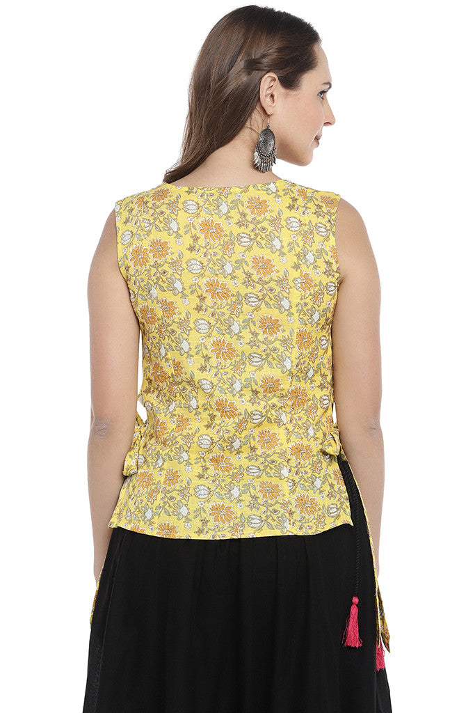 Yellow Printed Tunic-3