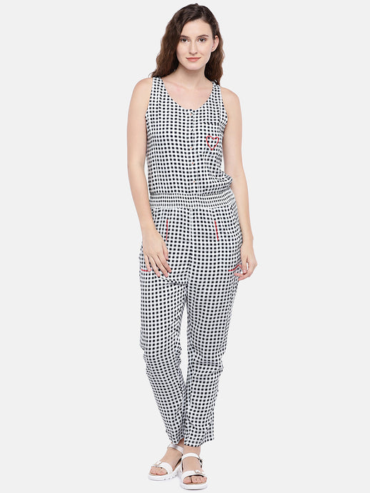 Checked Basic Jumpsuit-1