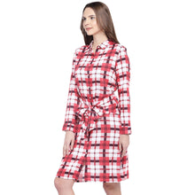 Load image into Gallery viewer, Navy Blue Checked Fit and Flare Dress-2