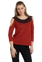 Load image into Gallery viewer, Polka Cold Shoulder Top-1