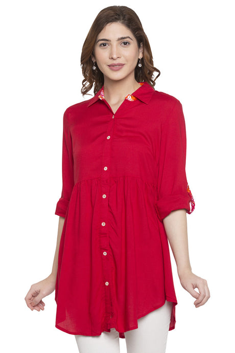 Shirt Collar Tunic-1