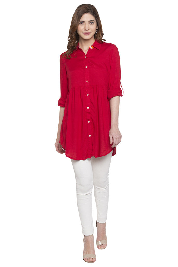 Shirt Collar Tunic-2
