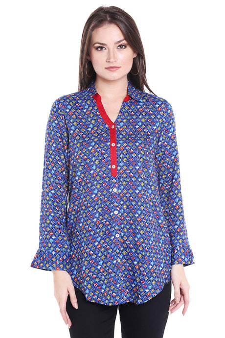 Printed Tunic Top-1