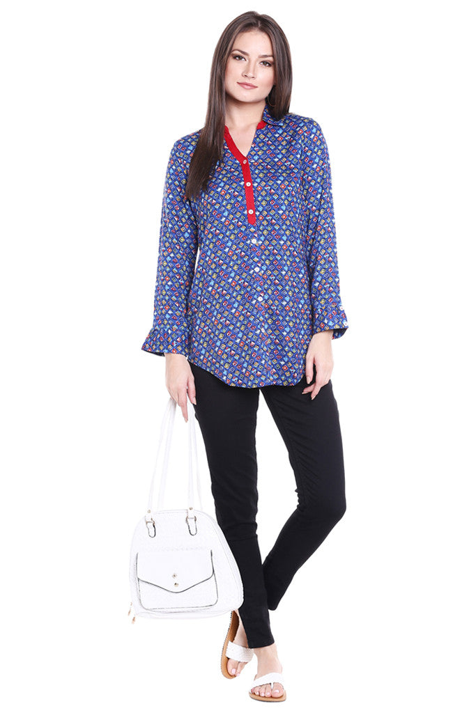 Printed Tunic Top-5
