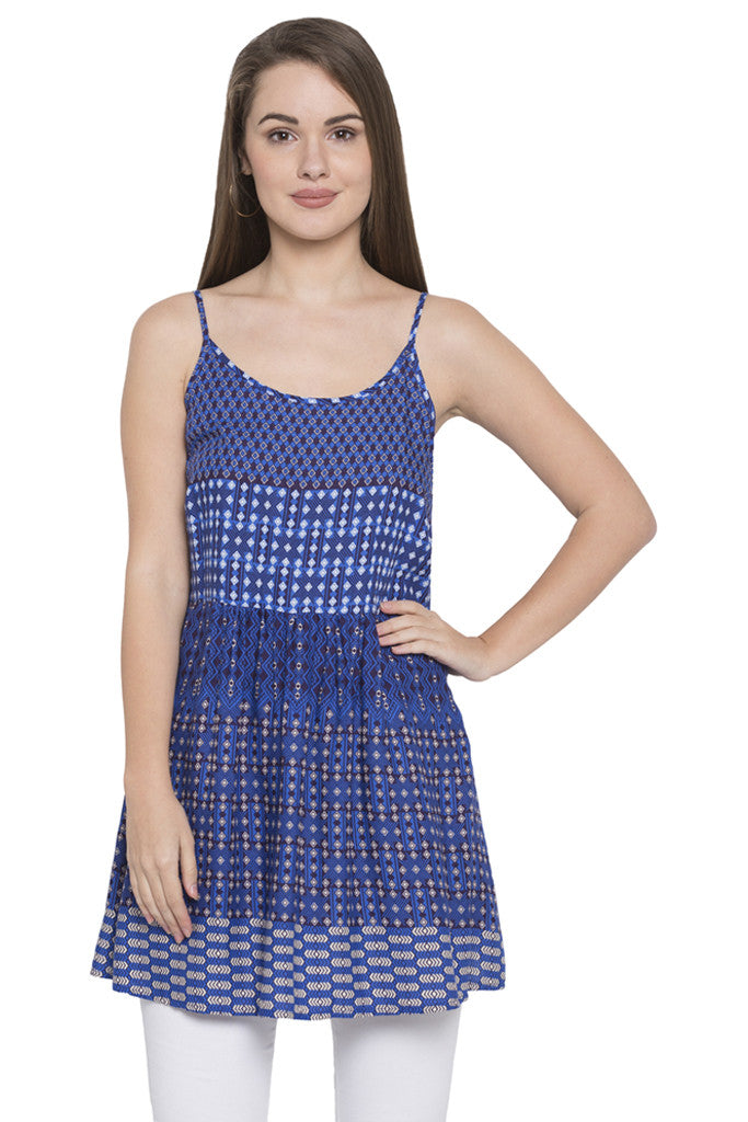 Blue Sleeveless Tunic-1