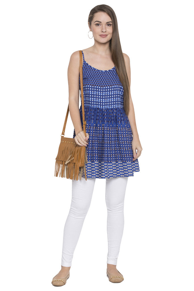 Blue Sleeveless Tunic-2