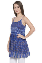 Load image into Gallery viewer, Blue Sleeveless Tunic-4