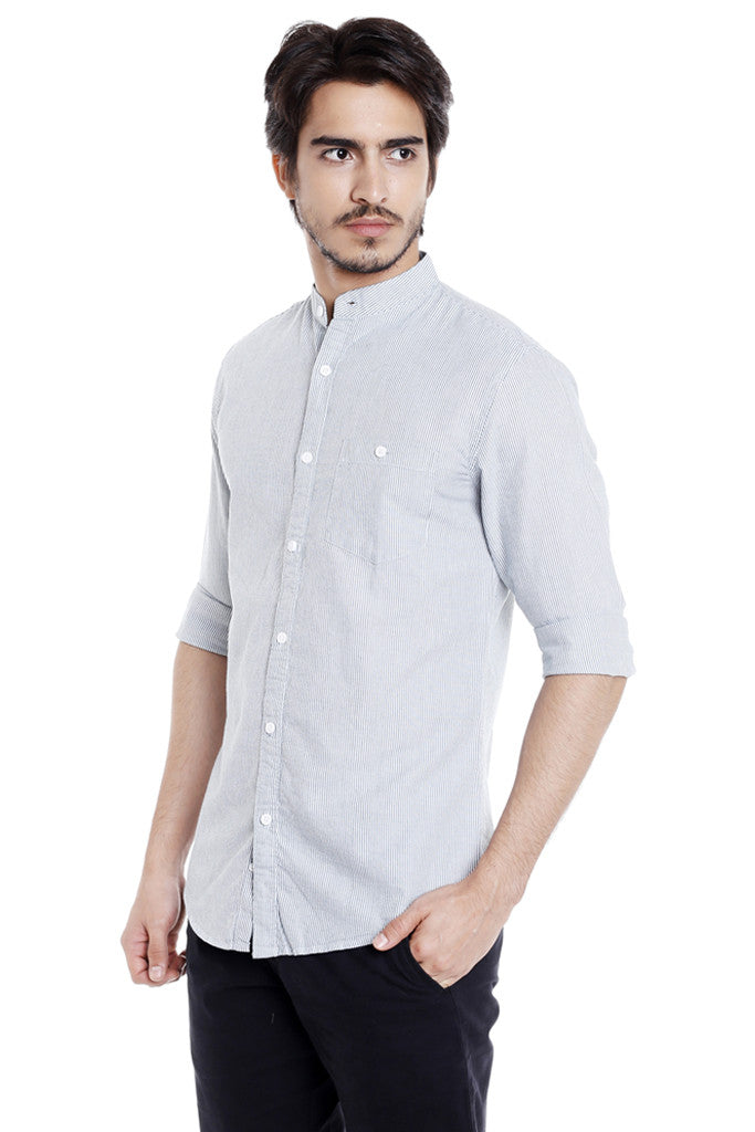 Mandarin Collar Casual Shirt for Men-2