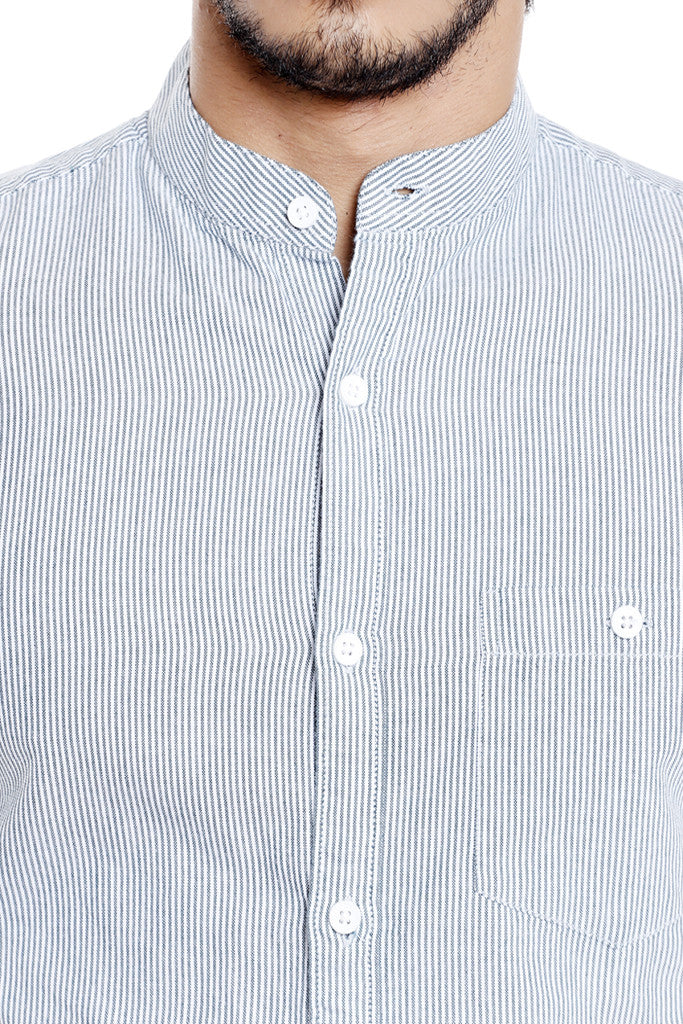 Mandarin Collar Casual Shirt for Men-6