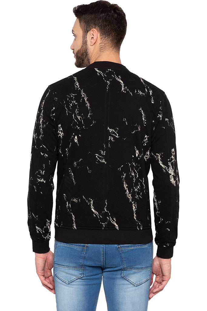 Full Sleeve Printed Black Sweatshirt-3