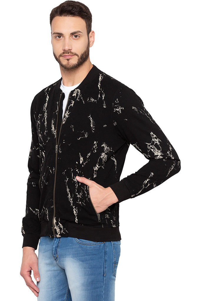 Full Sleeve Printed Black Sweatshirt-4