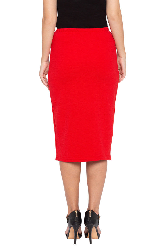 Red Pencil Skirt-3