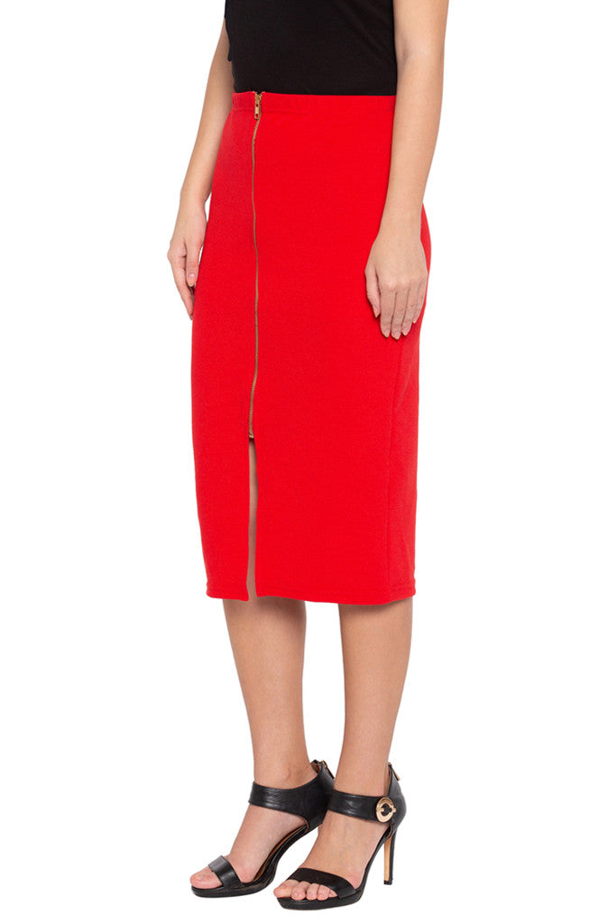 Red Pencil Skirt-4