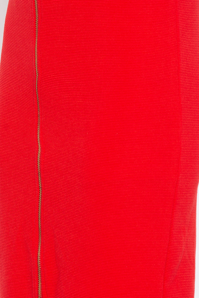 Red Pencil Skirt-5