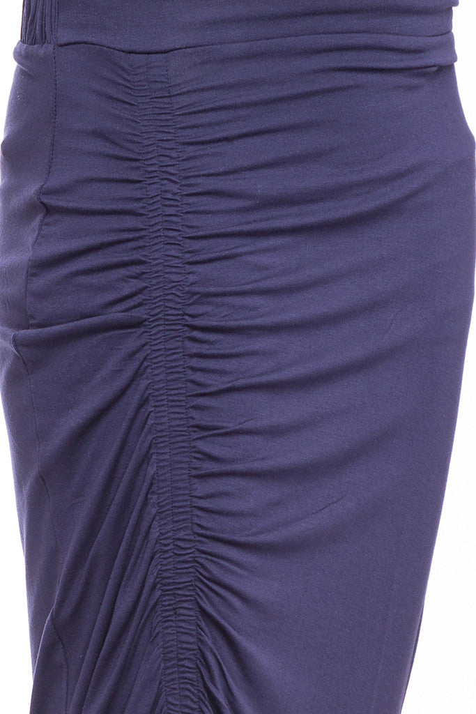 Ruched Front Calf Length Skirt-6