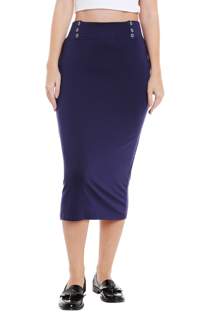 No Slit Pencil Skirt-1