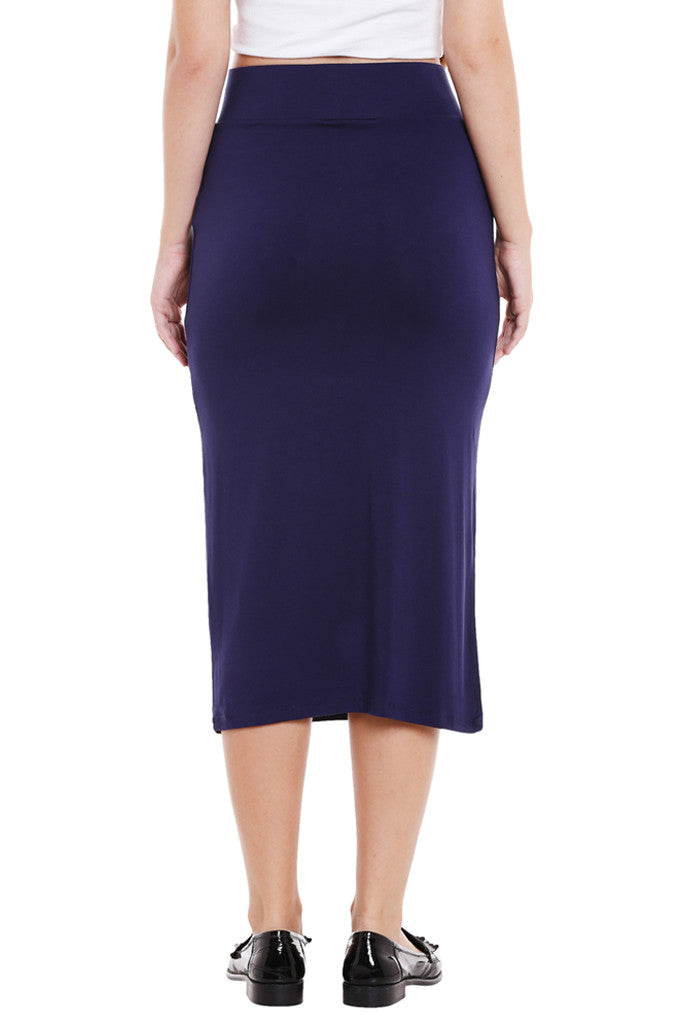 No Slit Pencil Skirt-3