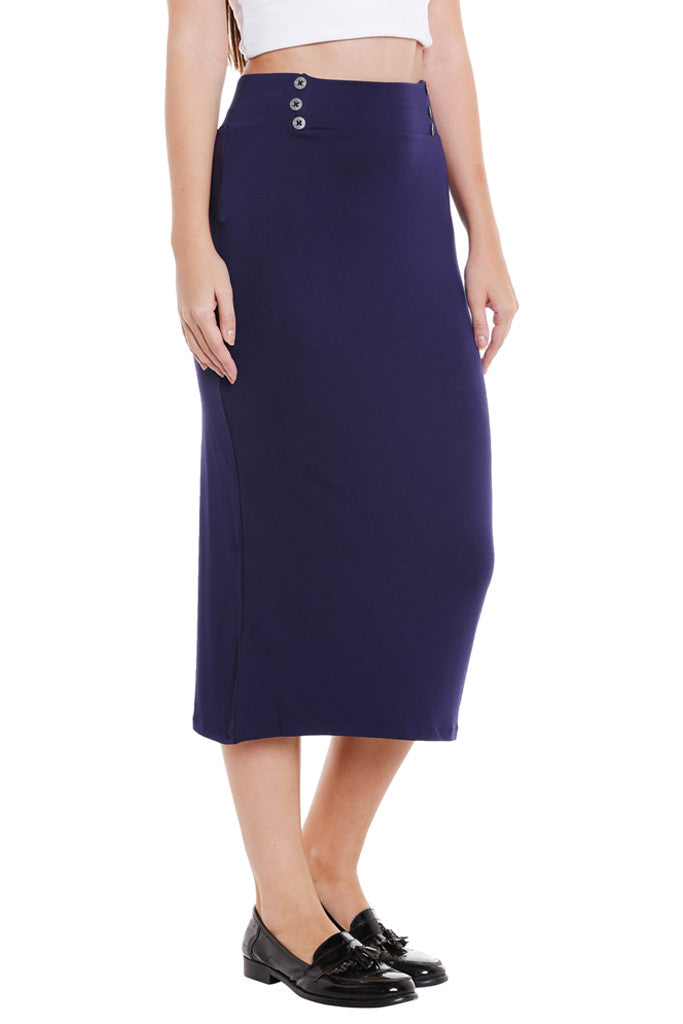 No Slit Pencil Skirt-4