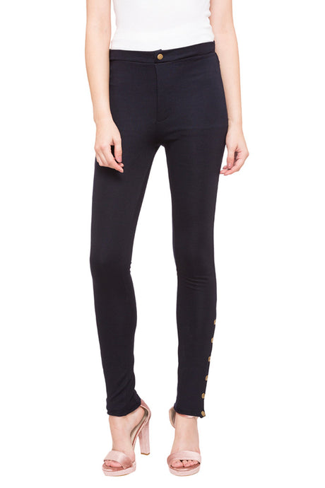 Navy Blue Leggings-1