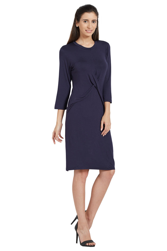 Navy Blue Party Dress-4