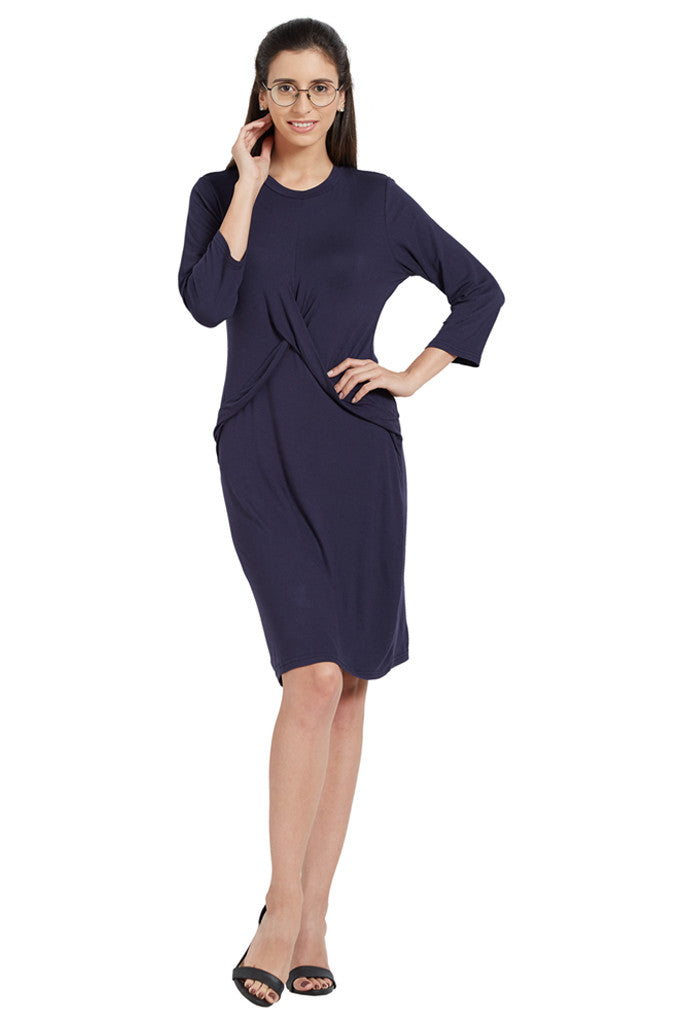 Navy Blue Party Dress-5