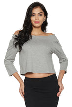 Load image into Gallery viewer, Grey Off-Shoulder Top-1