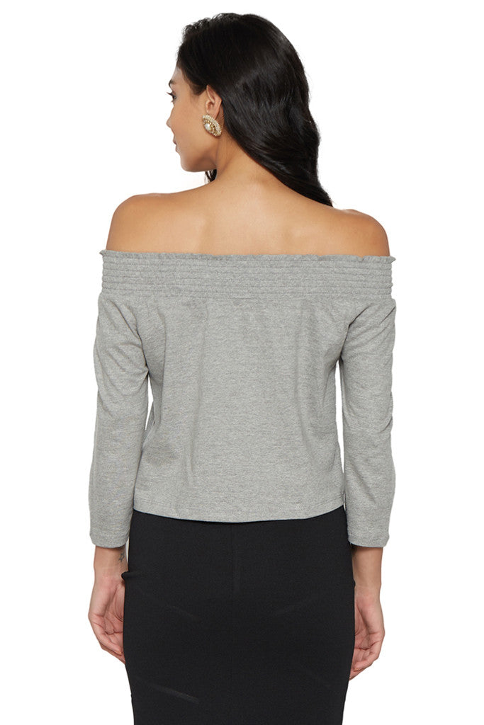 Grey Off-Shoulder Top-3