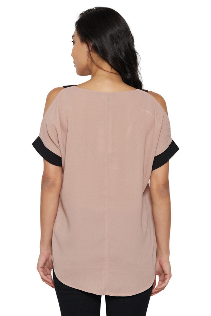 Dusty Pink Cold-Shoulder Top-3