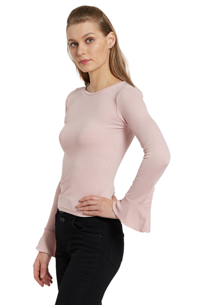 Bell Sleeve Knit Top-2