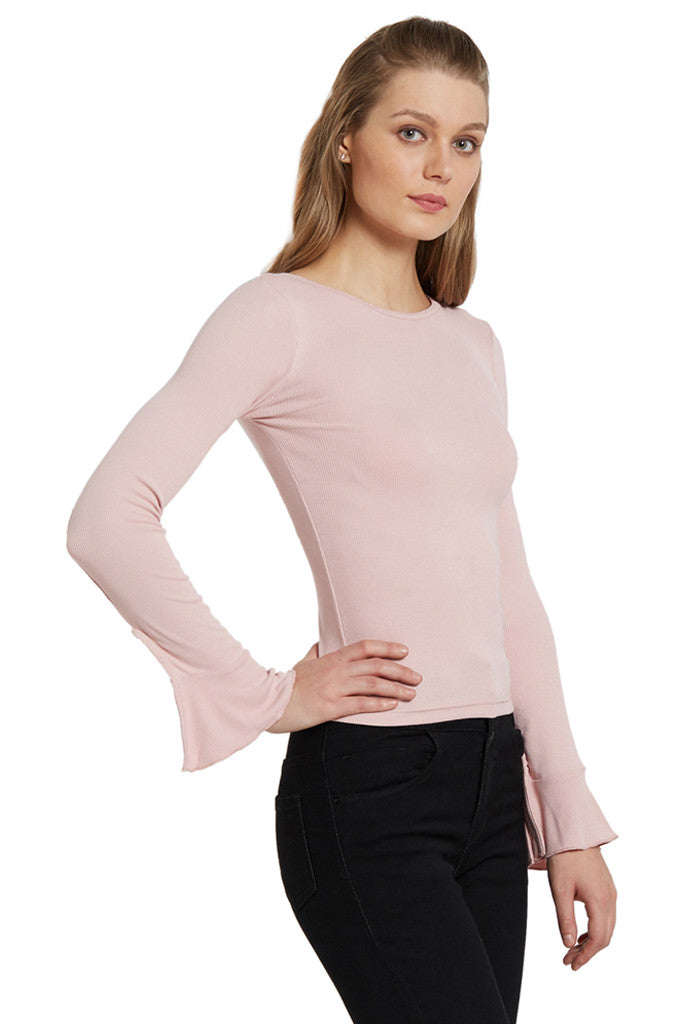 Bell Sleeve Knit Top-4