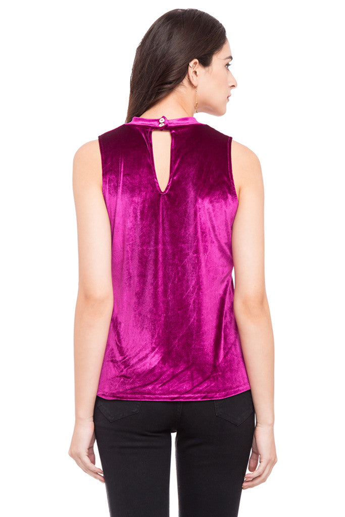 Turtle Neck Sleeveless Top-3