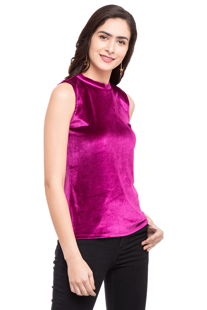 Turtle Neck Sleeveless Top-4