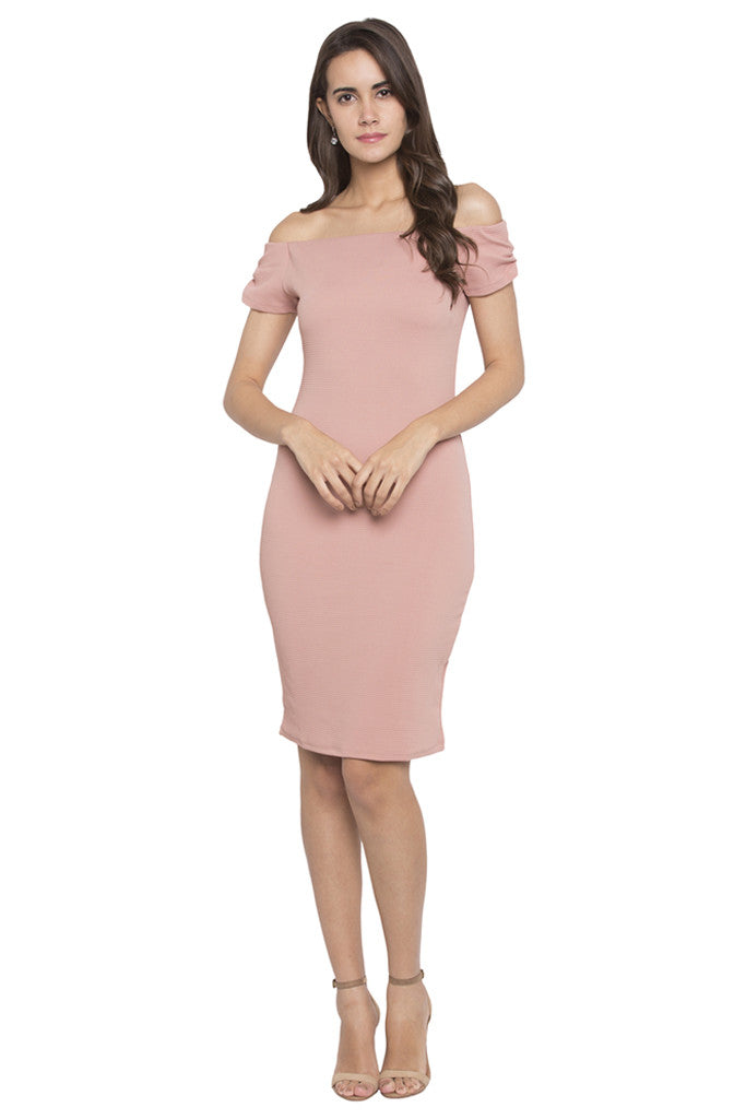 Off Shoulder Bodycon Dress-1
