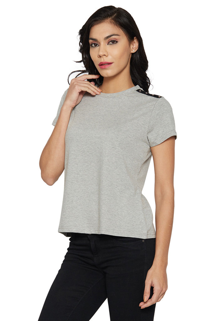 Grey Boxy T-shirt-2