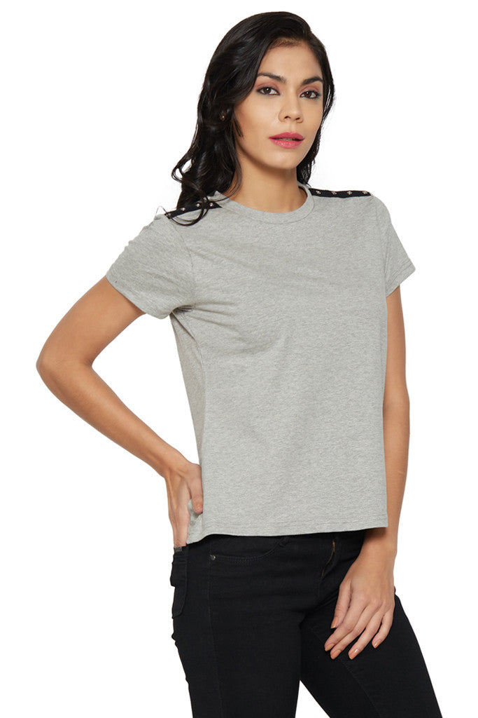 Grey Boxy T-shirt-4