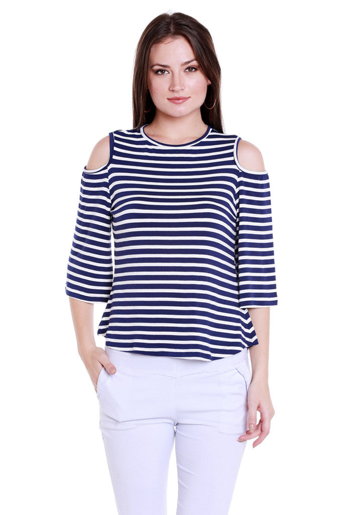 Back Focus Stripe Top-1