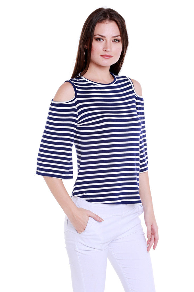 Back Focus Stripe Top-4
