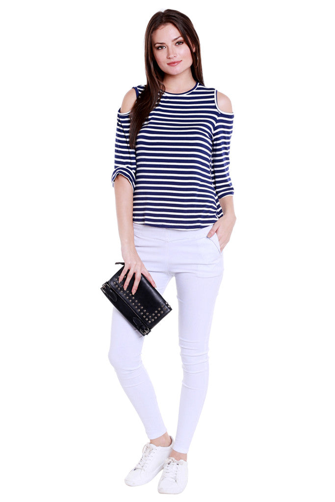 Back Focus Stripe Top-5