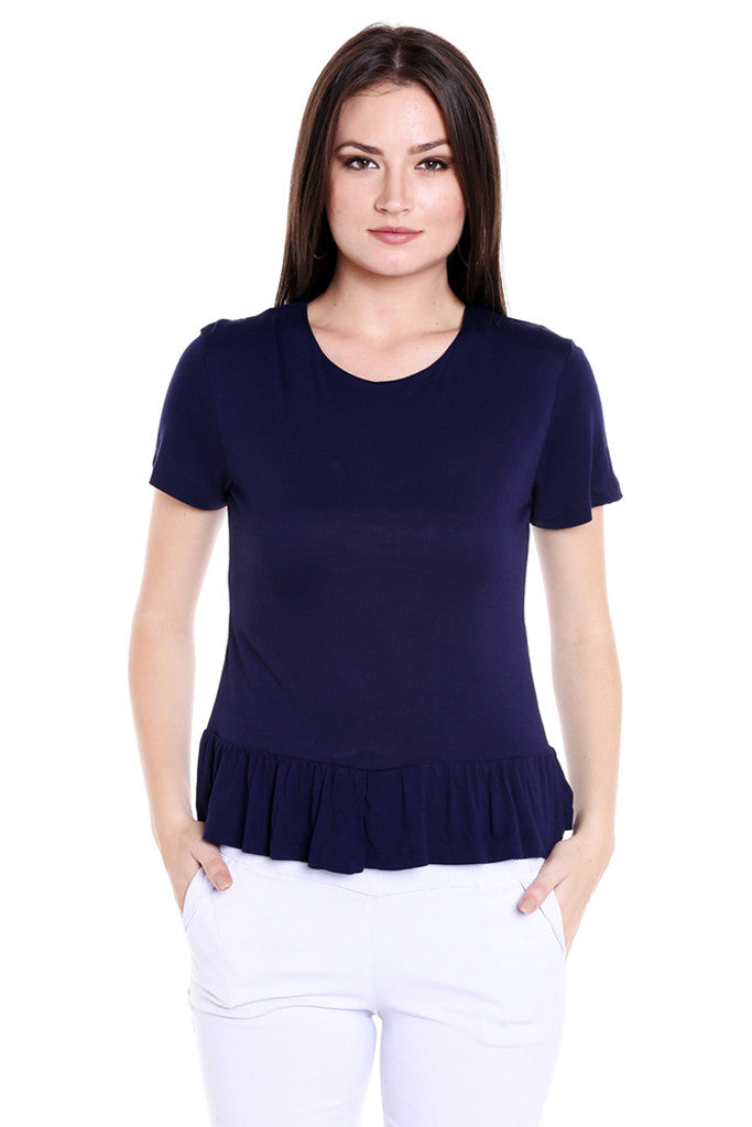Ruffled Hem Top-1