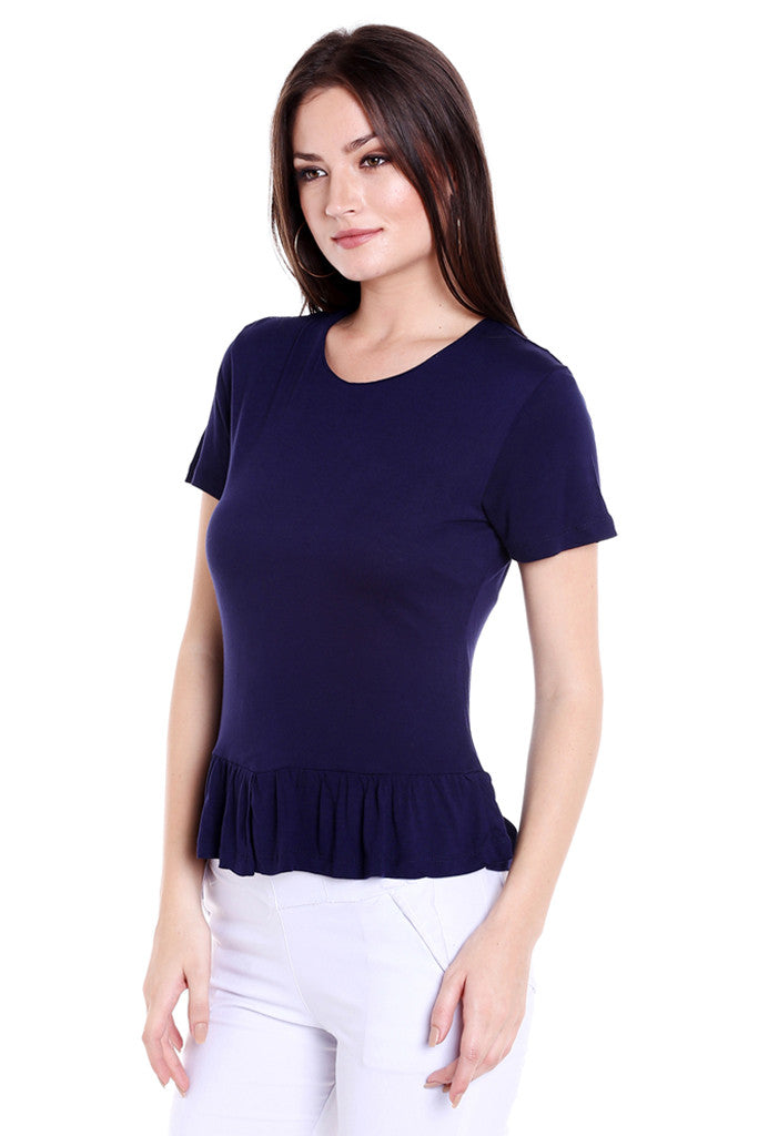 Ruffled Hem Top-2