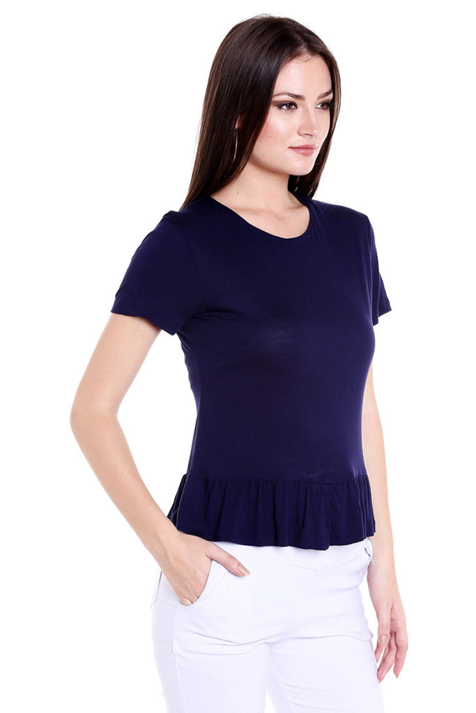 Ruffled Hem Top-4