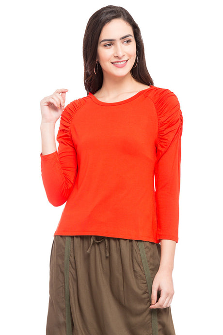 Ruffle Sleeve Top-1